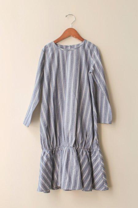 Kid's Shopboyandgirl Sophie Dress in Blue Jean