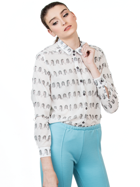 "One Imaginary Girl ""It Girl"" Long Sleeve Blouse - Printed"