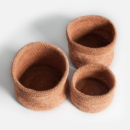 Someware Stackable Woven Baskets (Set of 3) - Ginger