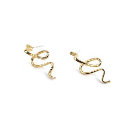 PAR ICI Squiggle Earrings
