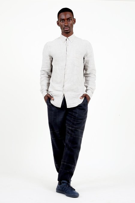 Our Legacy 1950's Shirt - Stone Grey Linen