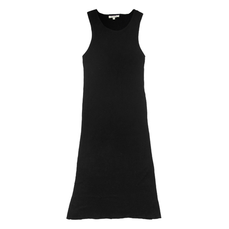 Ali Golden Ribbed Dress in Black