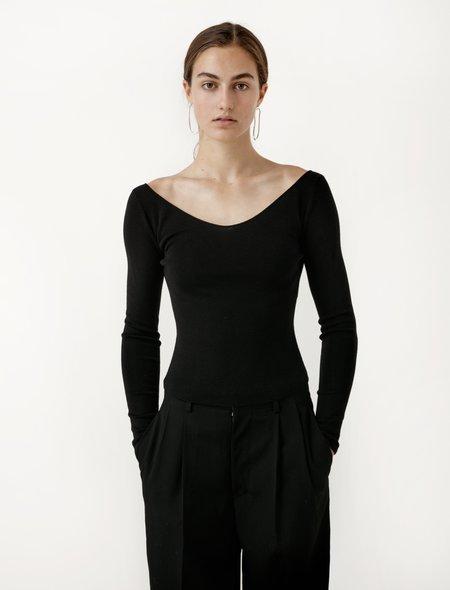 Lemaire V-Neck Sweater - Black
