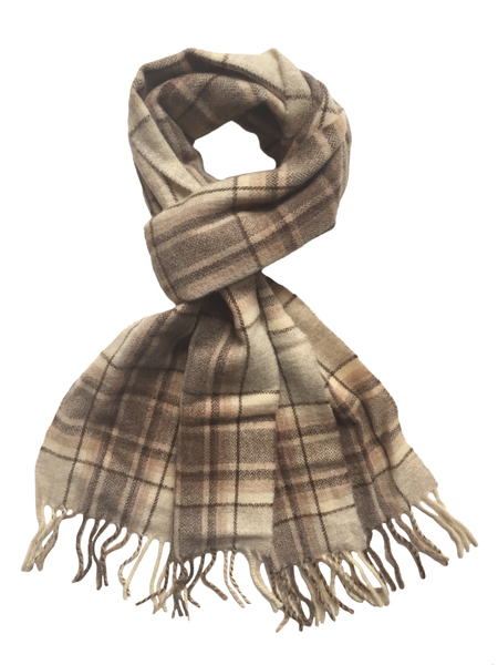 David Hart Taupe Gent Scarf