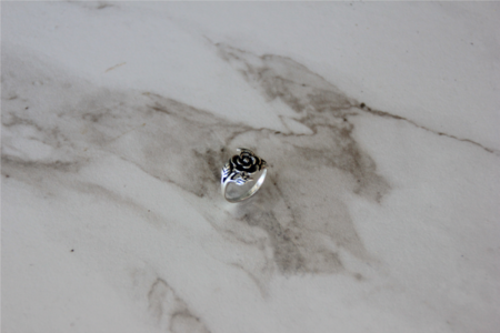 The Silver Stone Royal Rose Ring