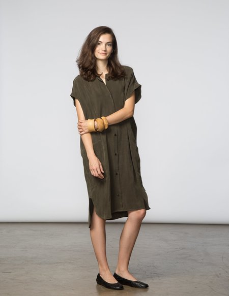SBJ Austin R Dress - Army Green