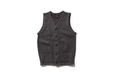 Beams + Knit Vest Grey