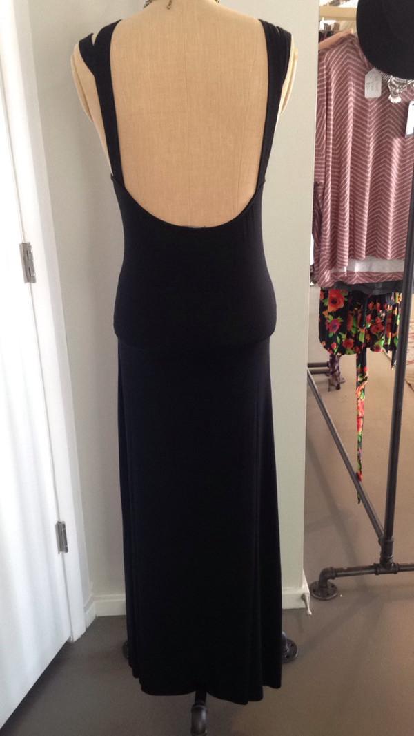 CLAYTON Sylvia Maxi Dress   Black