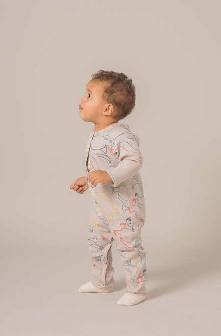 Kid's Bobo Choses OTARIINAE PRINT JUMPSUIT