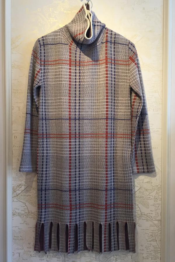 Rhié Turtleneck dress with fringe