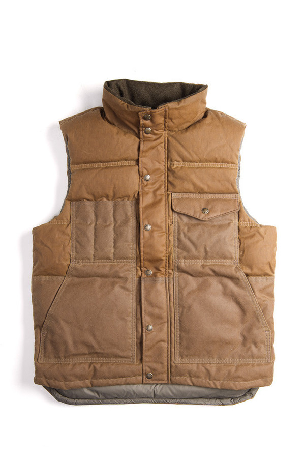 Men's Filson Down Cruiser Vest | Dark Tan