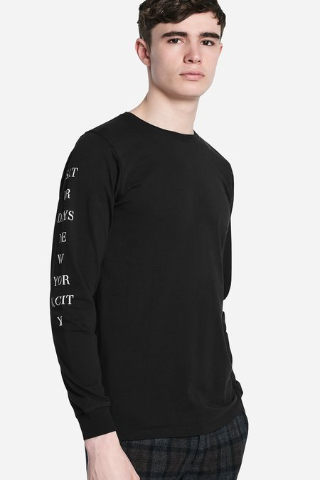 Saturdays Surf NYC Stencil Long Sleeve Tee - Black