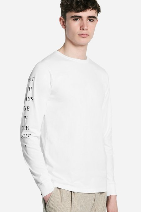 Saturdays Surf NYC Stencil Long Sleeve T-Shirt - White