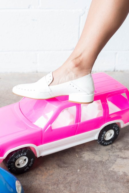 L'Intervalle York Loafers - White Leather