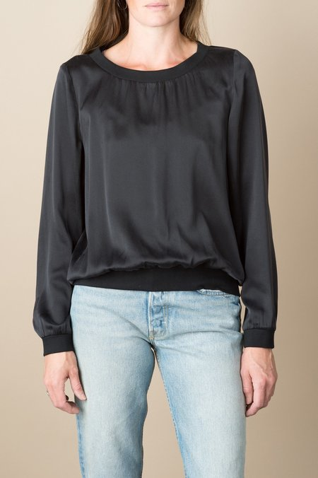 KES Cropped Chiffon Pullover