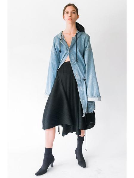 Issey Miyake Curvy Form Skirt - Black