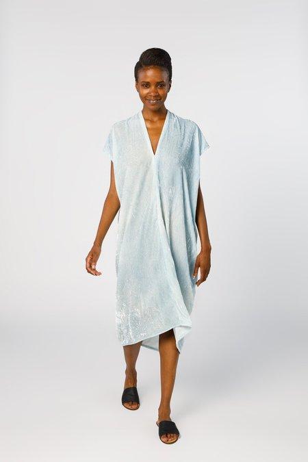 Miranda Bennett In-Stock: Everyday Dress, Velvet in Light Indigo