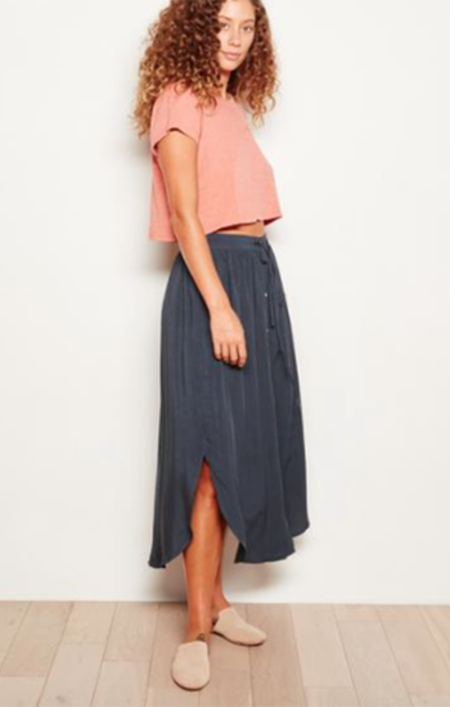 The Odells Button Front Skirt