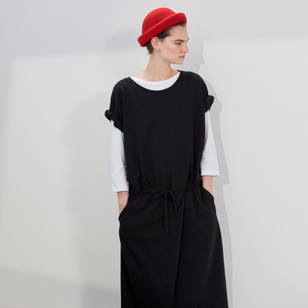 Kowtow Building Block Drawcord Dress - Black