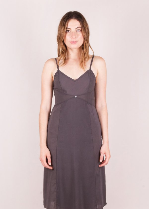 Botanica Workshop Vetiver Slip Dress- Smoke