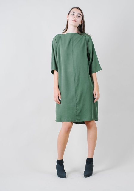 REIFhaus Calla Shift Dress in Loden