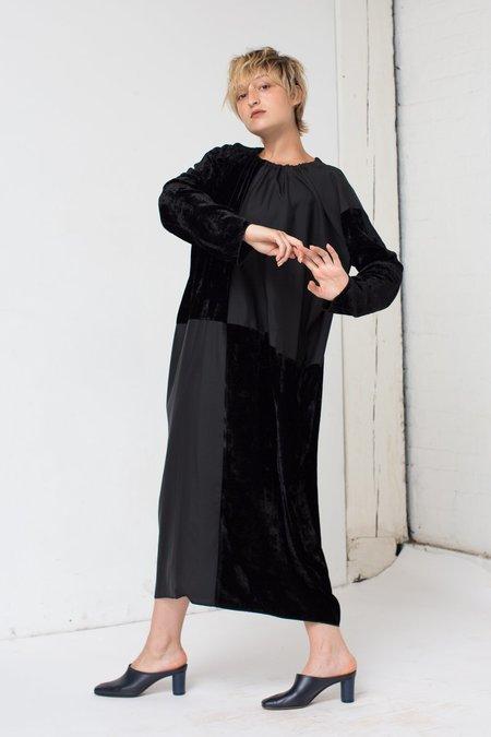Hache Velvet Dress in Black