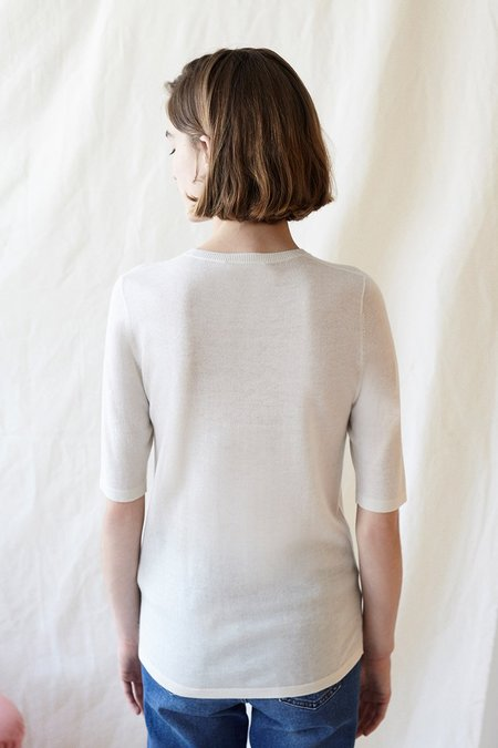 Intropia Short Sleeve Sweater in Ivory