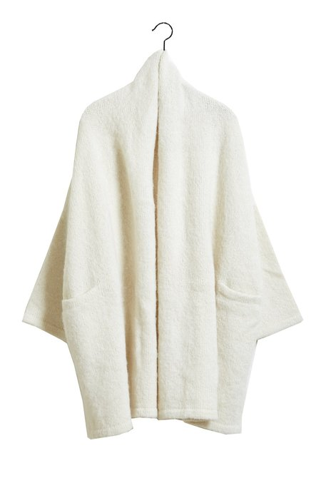 Atelier Delphine Haori Coat, Alpaca Wool Blend, Cream