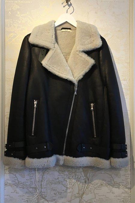 Rhié 'Pace' Shearling Moto Jacket