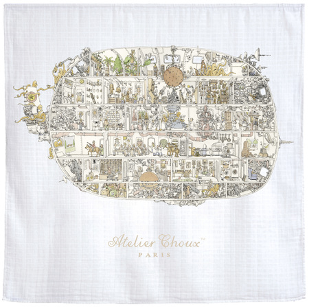 Kid's Atelier Choux Space Invaders Swaddle Blanket