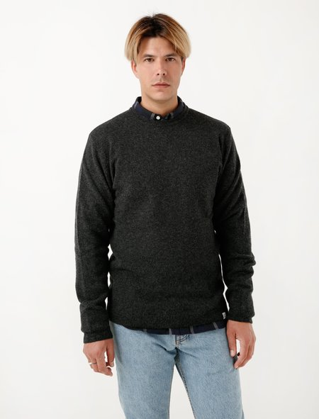 Norse Projects Mens Sigfred Lambswool - Charcoal