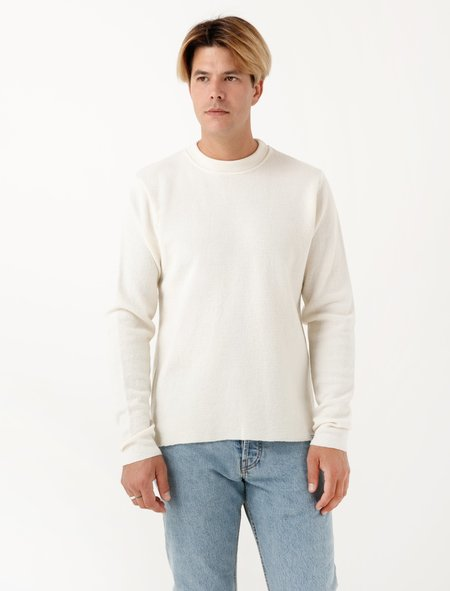 Norse Projects Mens Verner Normandy - Ecru Solid