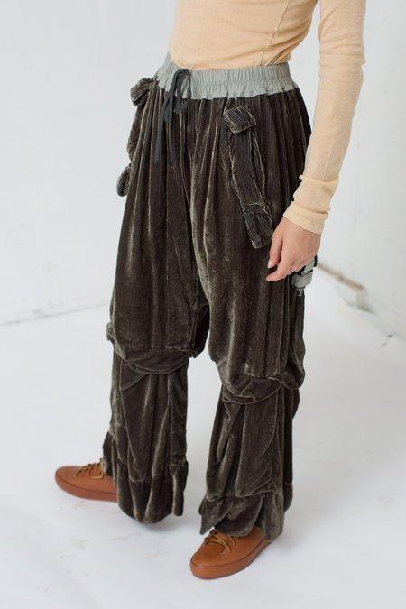 Bernhard Willhelm Corduroy and Velvet Pants in Tiger