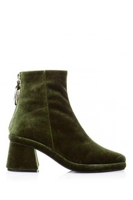 Reike Nen Velvet Ring Slim Boots - Green