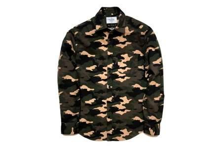 Portuguese Flannel Tropa Shirt Camo