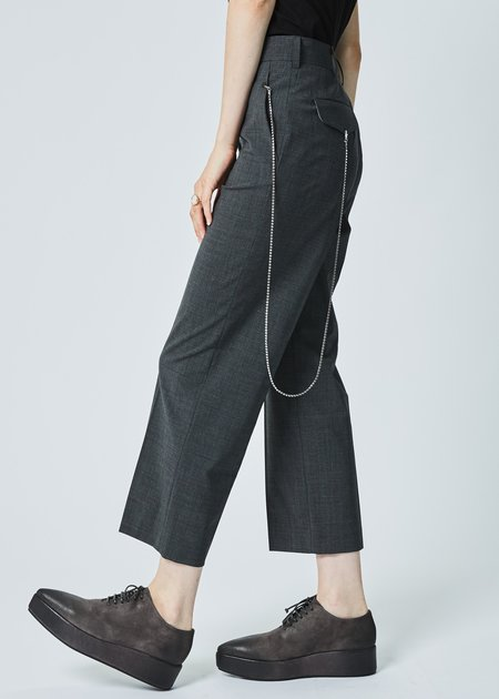 Ter et Bantine Cropped Dress Pant with Hip Chain