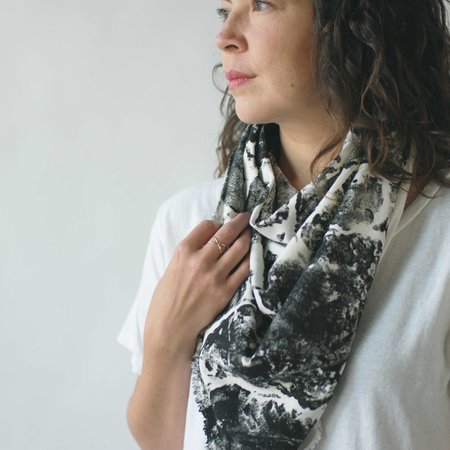 Argaman & Defiance Naturally Dyed, Raw Silk Blanket Scarves
