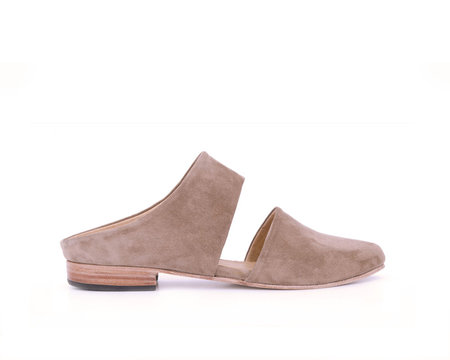 ZOU XOU Mule in Sand Suede Instant Ship