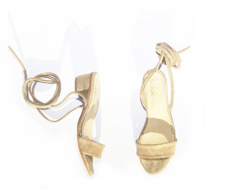 ZOU XOU Anaise Ankle Tie Sandal in Cava Suede Instant Ship