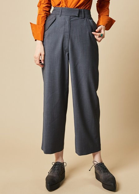 Ter et Bantine Cropped Pinstripe Cinch Pant