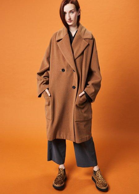 Hache Drop-Shoulder Wool Overcoat