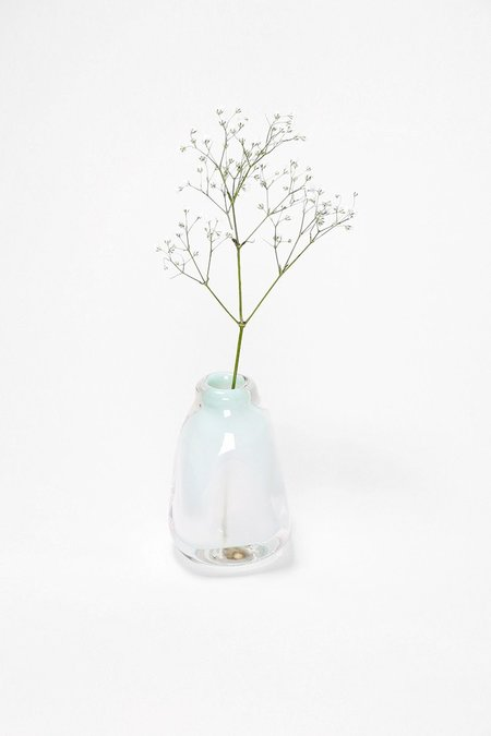 Bale Fire Glass Small Suspension Vase - Turquoise Smoke