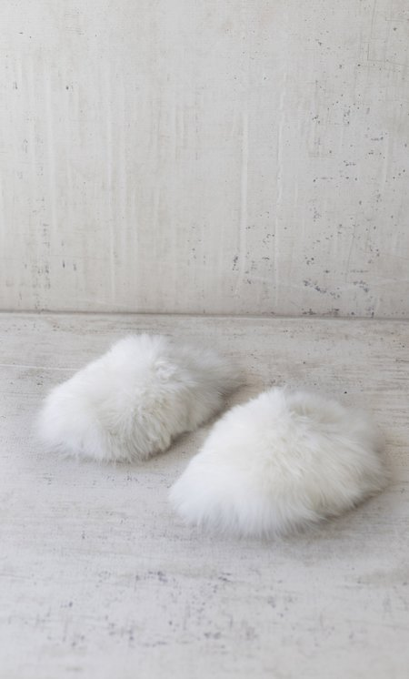 The Great Eros Cirrus Alpaca Slippers in Natural
