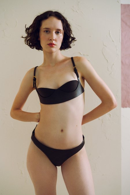 Fleet IIya Leather Knickers in Black
