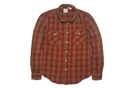 Levi's Vintage Clothing Shorthorn Shirt Burnt Rust