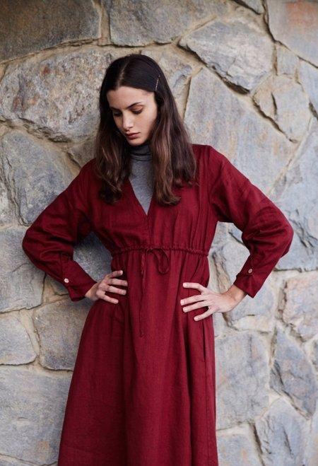 Sugar Candy Mountain Audra Dress - Burgundy