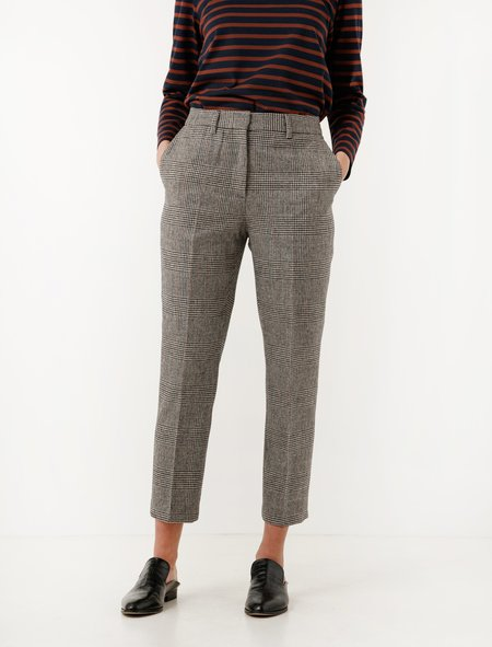 Margaret Howell Midi Waist Crop Trousers Prince of Wales Check