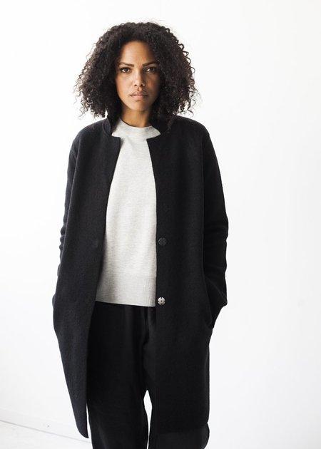 Line Knitwear Gilles Coat in Caviar