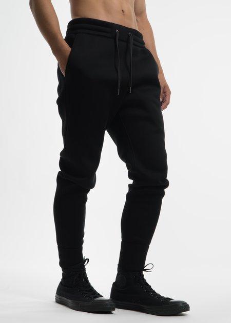Helmut Lang Black Curved Leg Track Pant