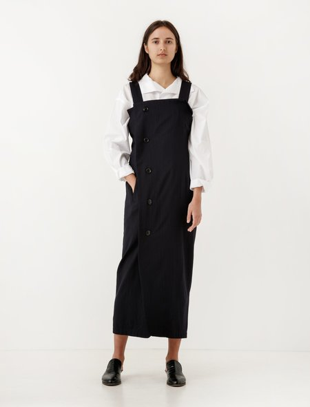 Ys by Yohji Yamamoto Wrap Dress Twill Stripe